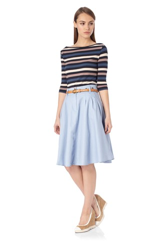 Amelie Stretch Stripe Tee