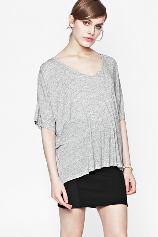 Melanite Relaxed V-Neck T-Shirt