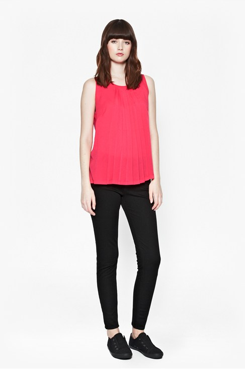 Polly Pleat Top