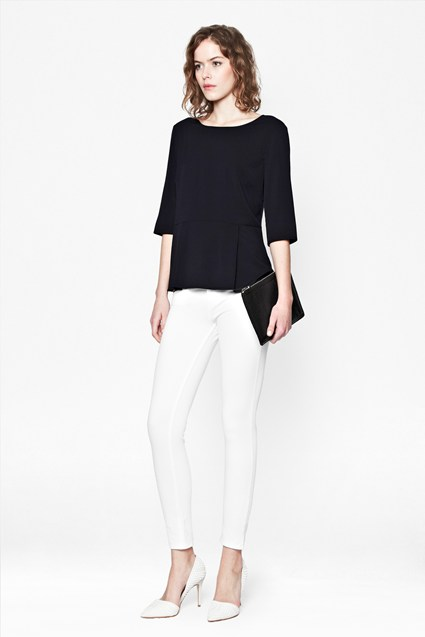 Polly Plains Peplum Top