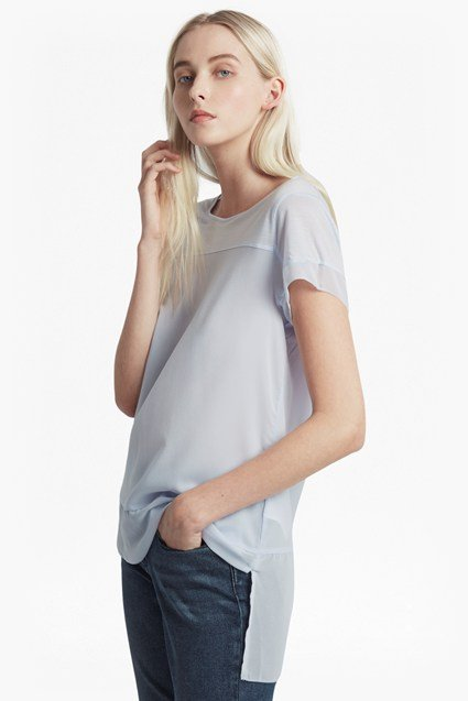 Polly Chiffon Raw Edge T-Shirt