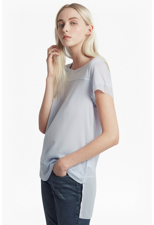 Polly Plain Raw Edge T-Shirt