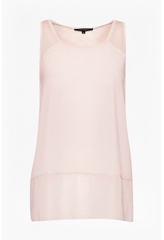 Polly Plain Raw Edge Vest Top