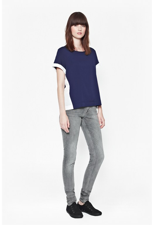 Polly Plains Colour Block Top