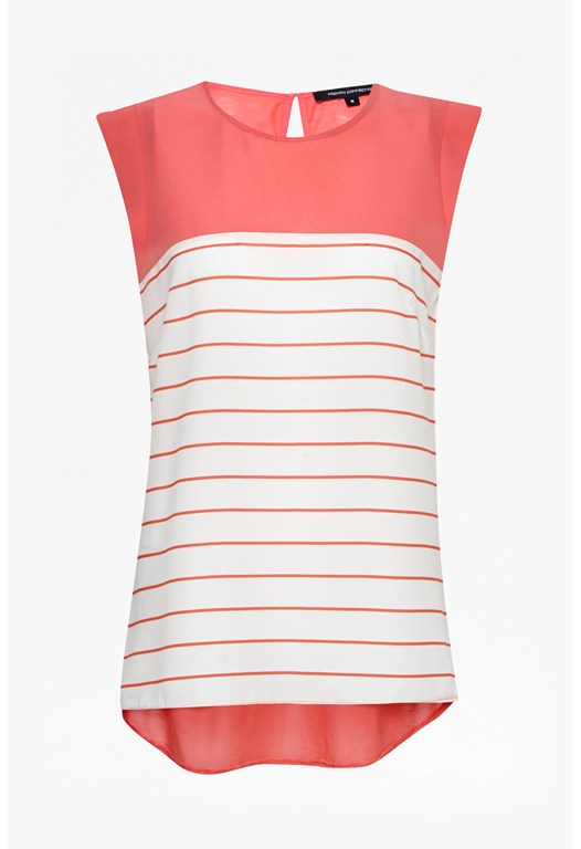 Polly Stripe Cap Sleeve Top