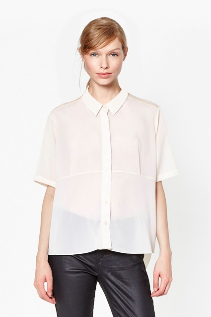 Polly Plains Collared Top