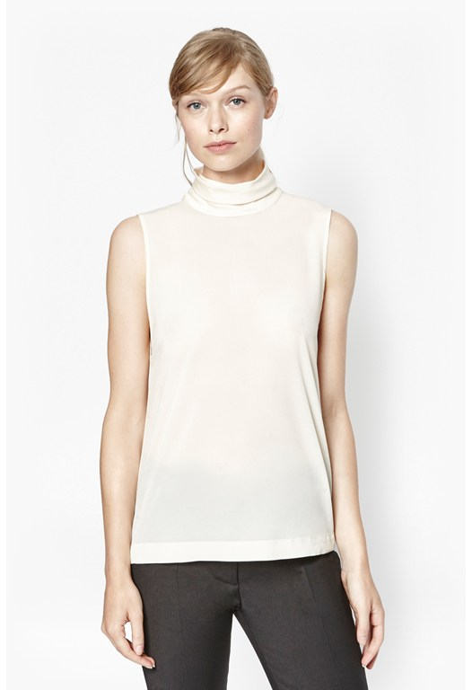 Polly Plains S/Lss High Nk Top