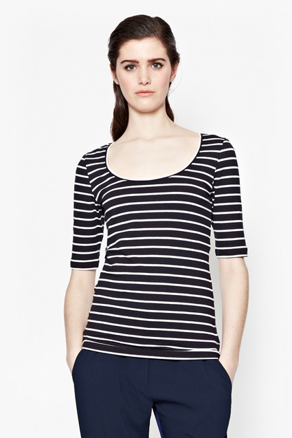 Tim Tim Scoop Neck Top