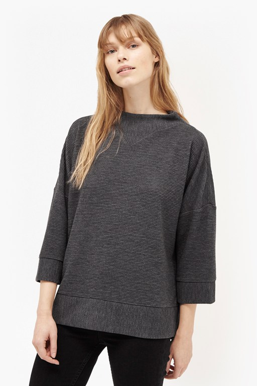 Complete the Look Sudan Marl Rib Oversized Top