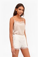 Looks Great With Polly Plains Lace Trim Cami Top