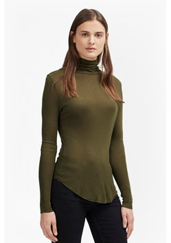 Marian Slub Polo Neck Top