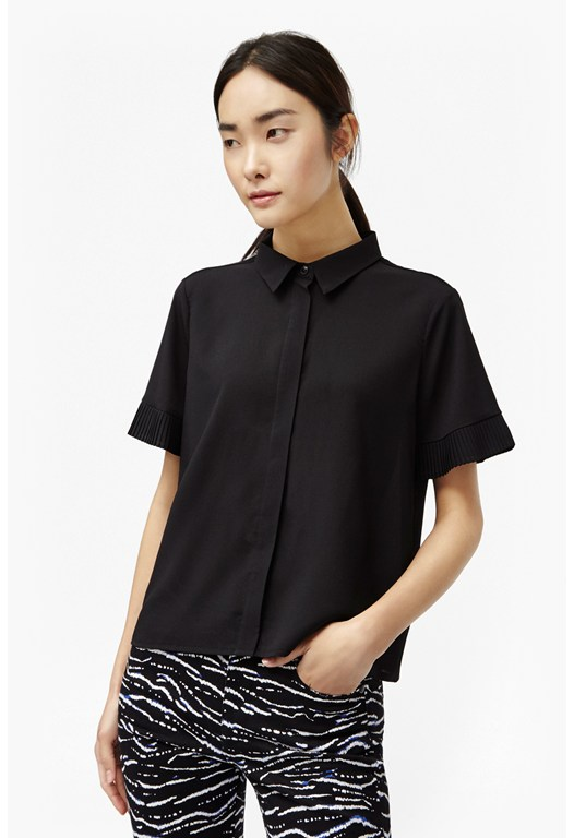 Polly Plains Frilled Sleeves Shirt