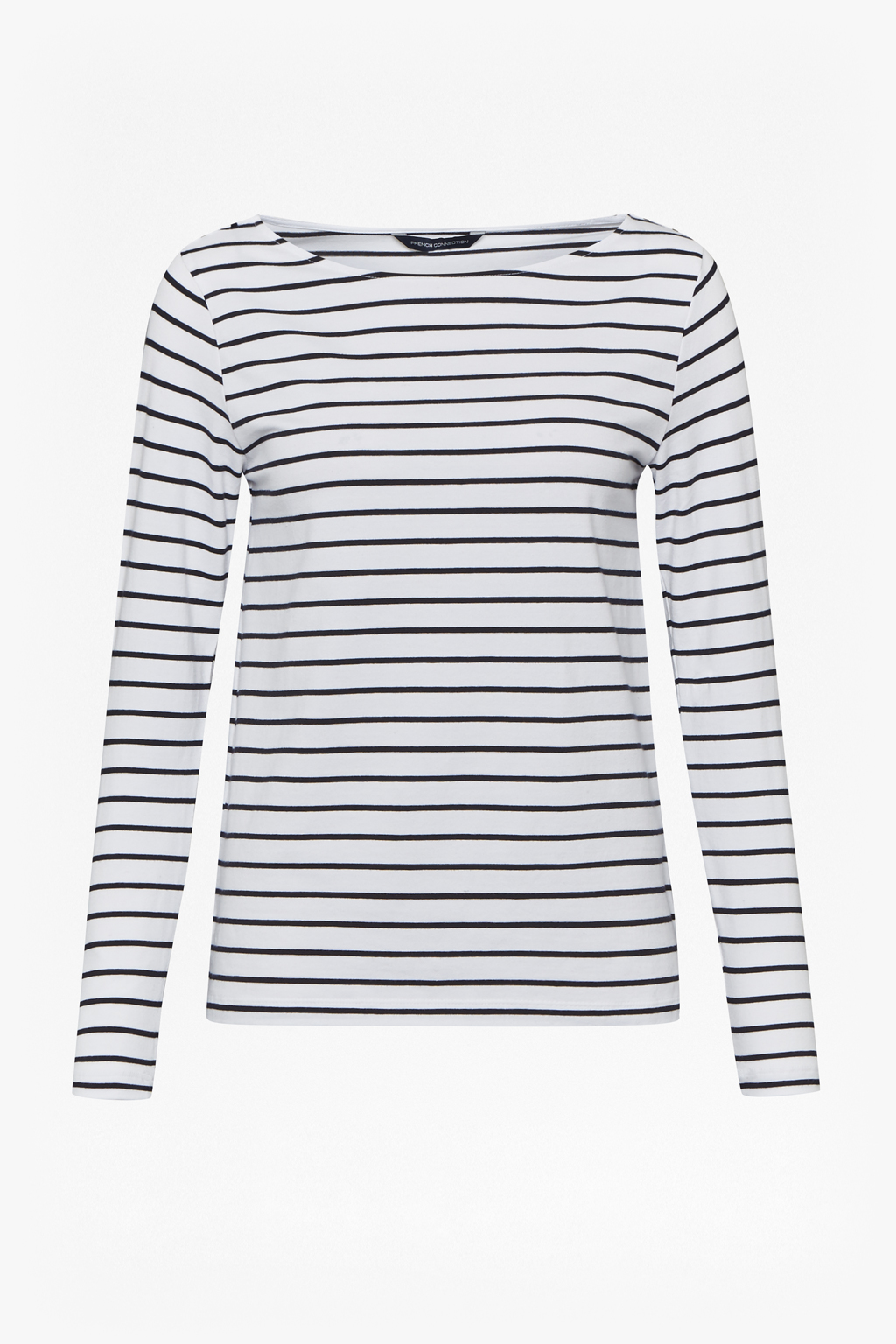 French Connection Tim Tim Stripe 3/4 Length Sleeve Top Cheap Sale Explore Under 70 Dollars Authentic diAS1g