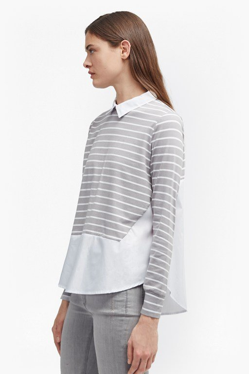 fresh tim tim striped shirt jumper