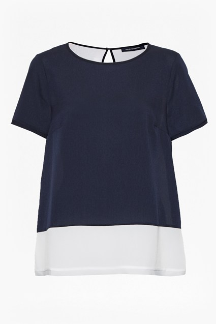 Crepe Light Colour Block T-Shirt