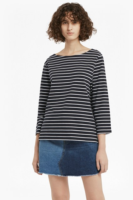 Tim Tim Breton Striped Top by French Connection