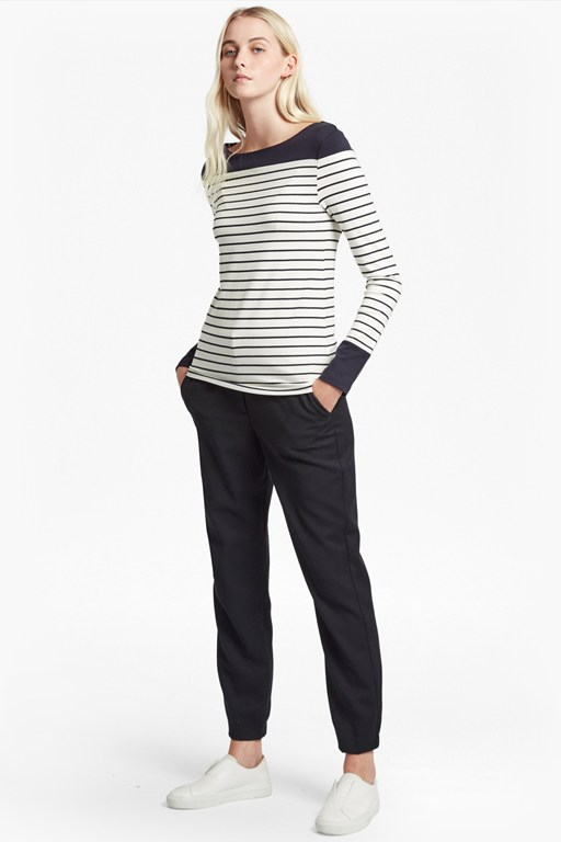 tim tim slash neck long sleeved sweater