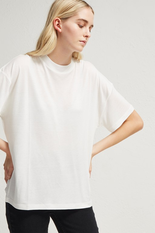 viscose crew neck t-shirt