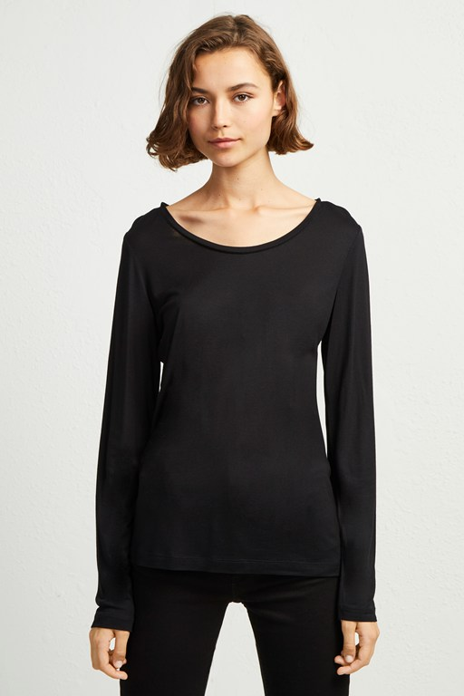 viscose round neck top