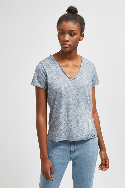 hetty v neck jersey t-shirt