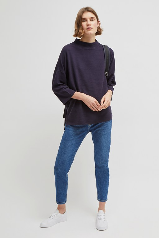 trixie texture mock neck top