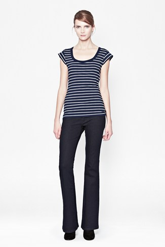Sophie Stripe Scoop T-Shirt