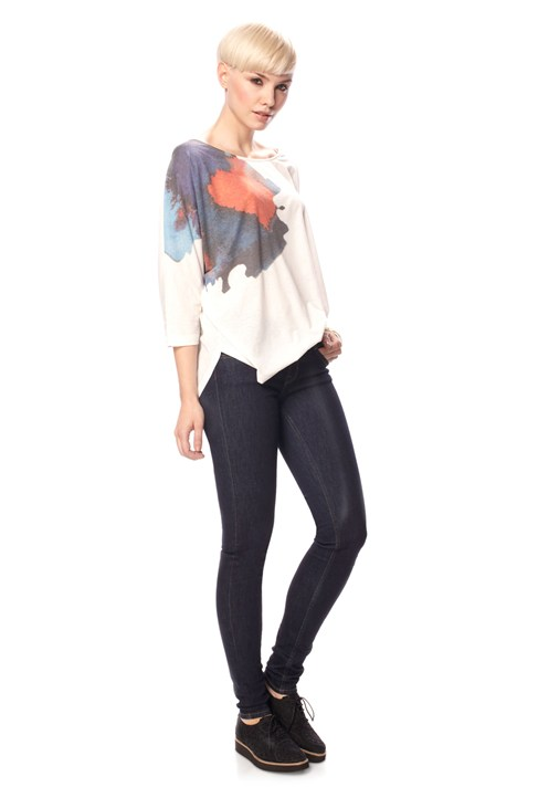 Flower Stretch Scoop Top