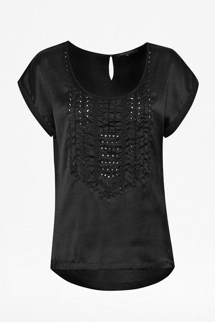Megan Grace Lace Front Tee