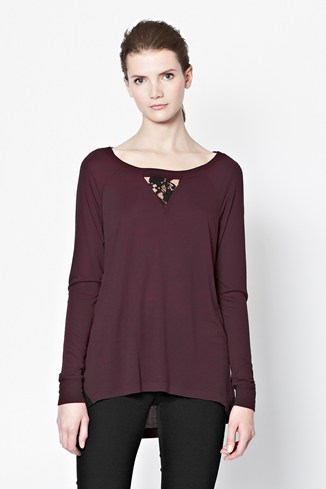 Alex Lace Insert Jersey Top