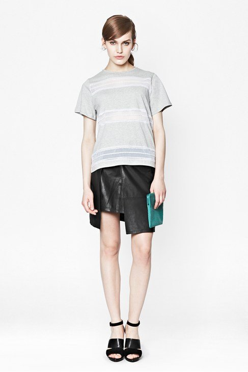 Cut & Sew Cotton T-Shirt
