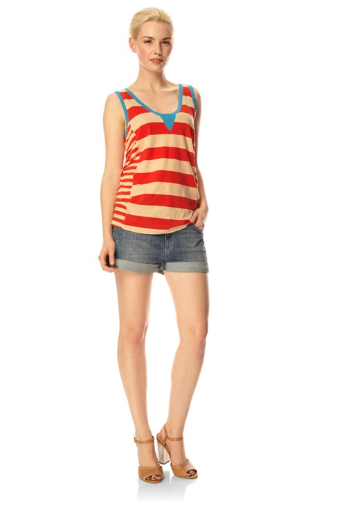 Taboo Stripe Vest Top
