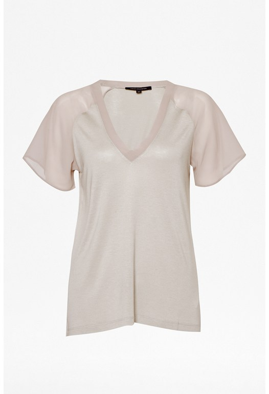 Attia V-Neck Jersey Top