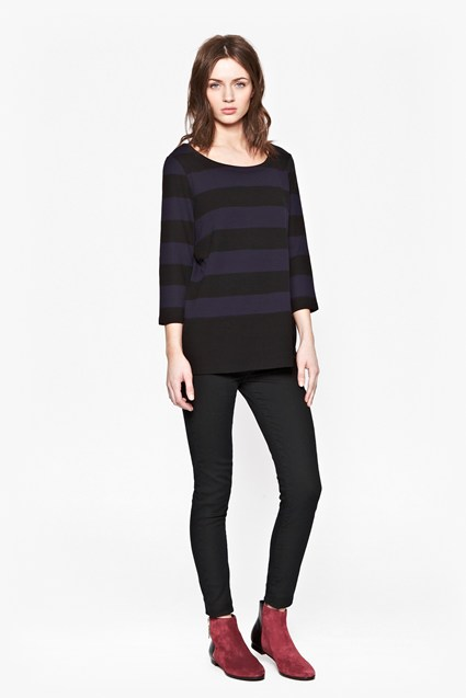 Manhattan Winter Striped Top