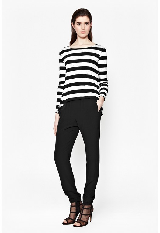 Horizon Stripe Long-Sleeved Top