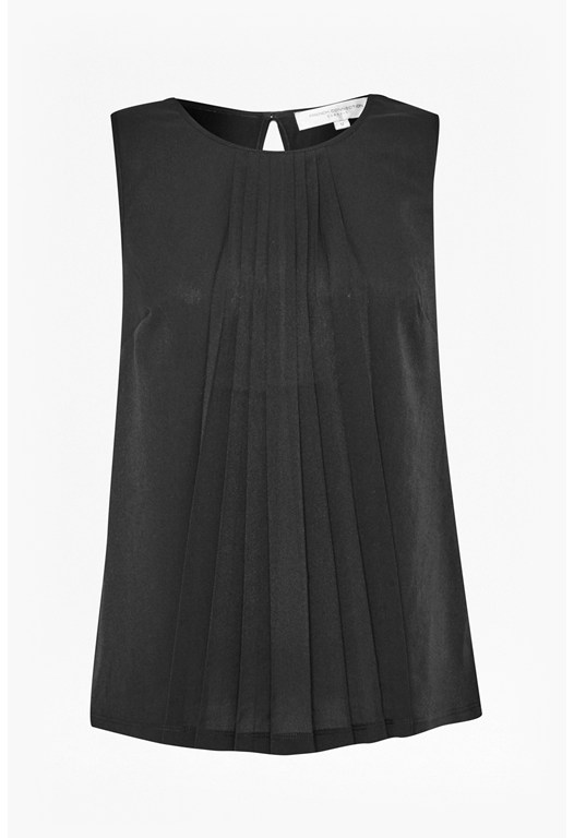 Polly Pleated Sleeveless top