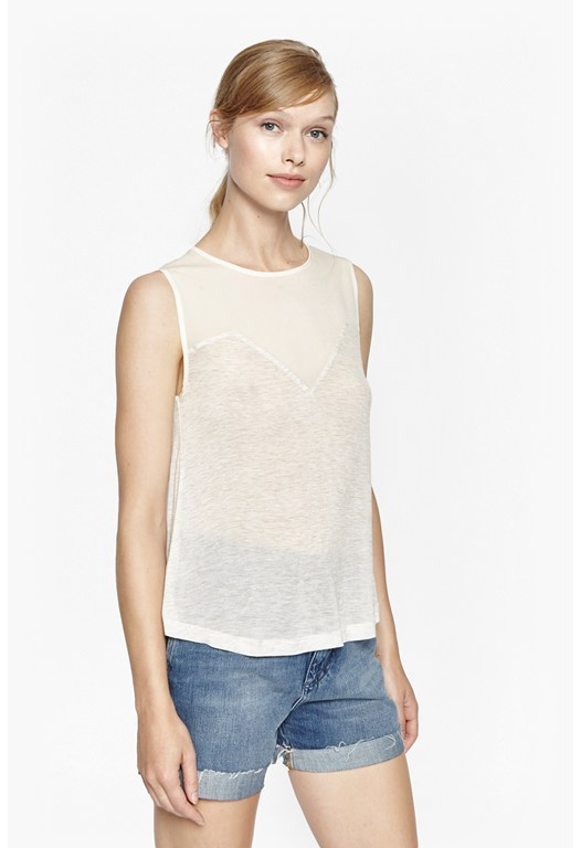 Polly Plains Sheer Top
