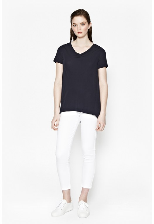 Pleat Pia Lace Trim T-Shirt