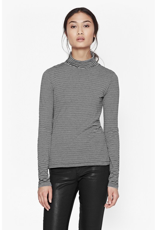 Starzy Stripe Roll Neck Top