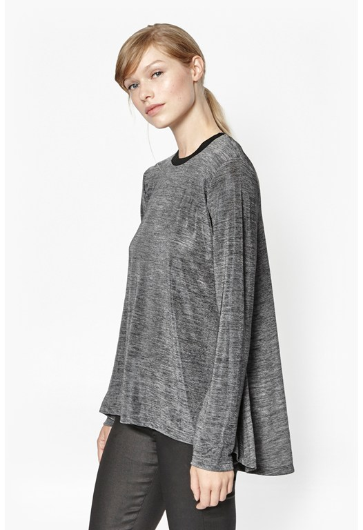 Laquered Gloss Long Sleeve Top