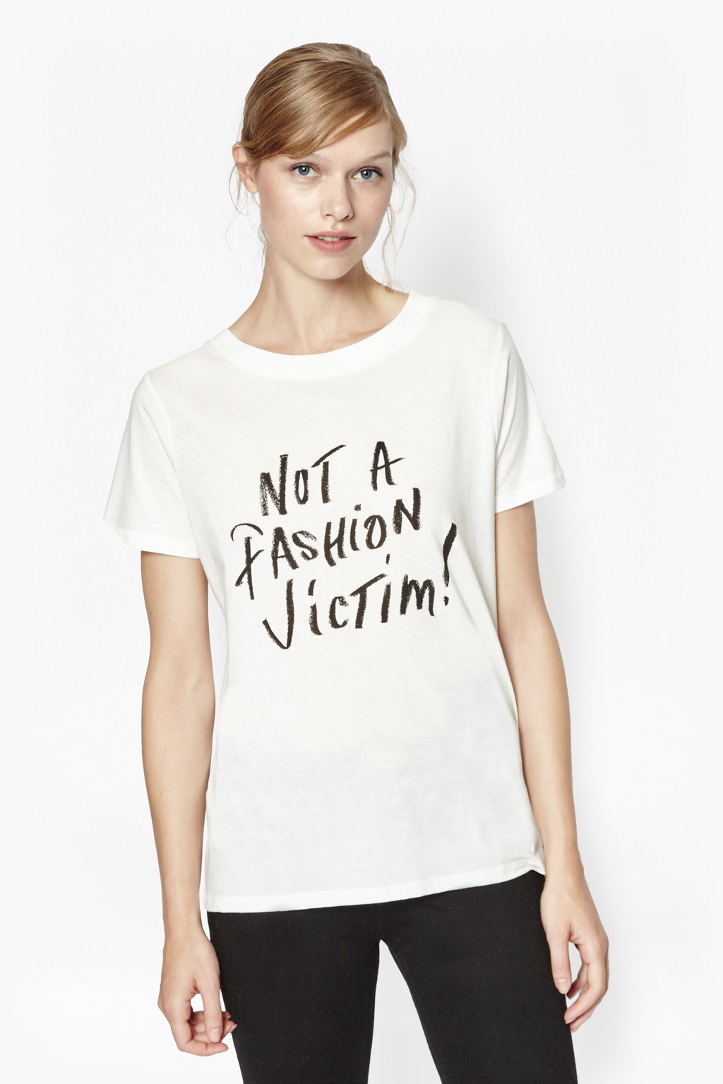 not a fashion victim t shirt collections french connection. Black Bedroom Furniture Sets. Home Design Ideas