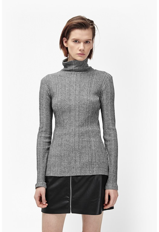 Later Rib Roll Neck Top