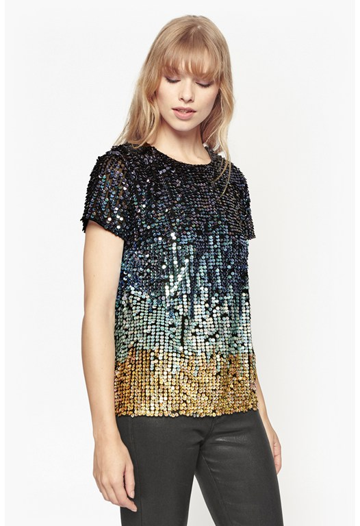 Cosmic Beam Sequin Top