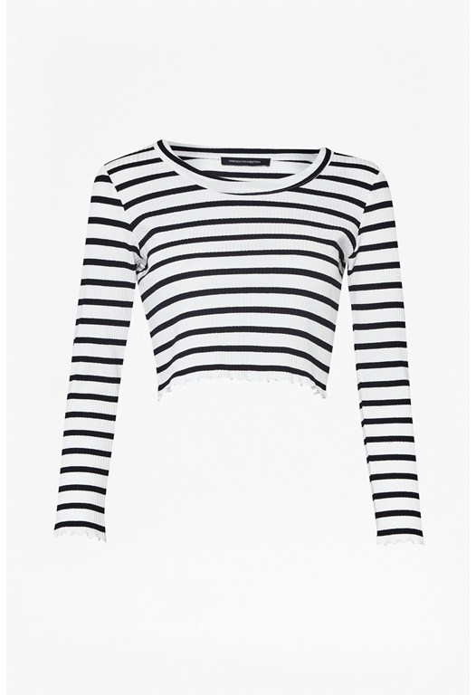 Later Stripe Crop Top