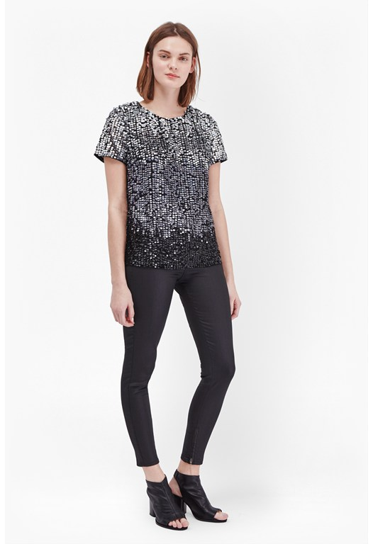 Sunbeamer Sequin T-Shirt Top
