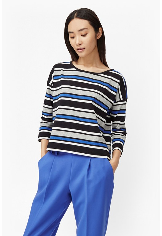 Suo Stripe Long Sleeve Top