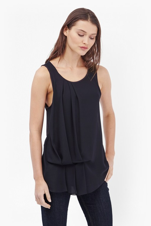 Complete the Look Florrie Pleated Drape Detail Top