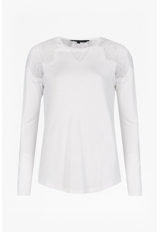 Juliette Lace Insert Jersey Top