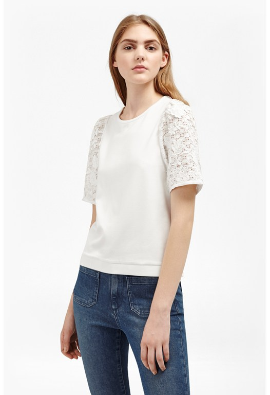 Anna Lace Sleeve Top