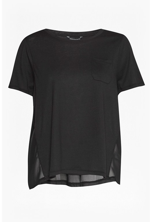 Hopper Modal Chiffon Back T-Shirt