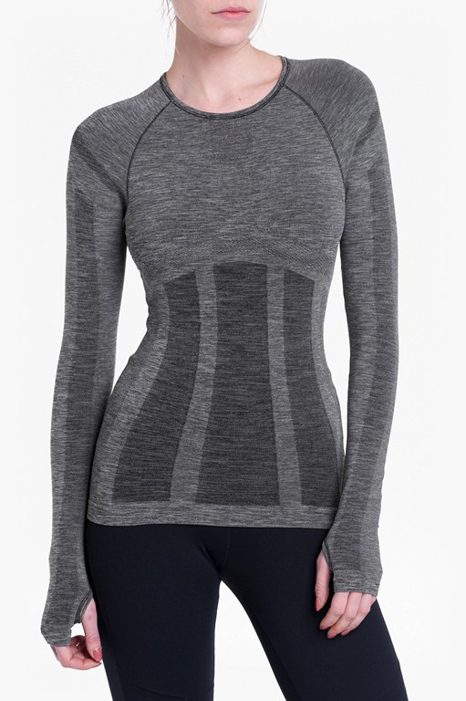 Complete the Look Moto Cross Seamless Long Sleeve Top